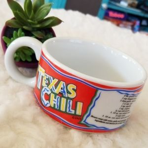 Dining - 2/$15 Texas Chili recipe cup bowl